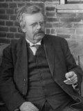 Author G K Chesterton  in Portrait