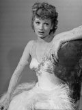 "Dancer/Actress Lucille Ball Posing in Dance Costume for Routine She Learned for ""The Big Street"""
