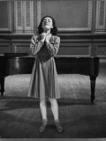 Italian Lyric Soprano Anna Maria Alberghetti Preparing for Her American Debut at Carnegie Hall