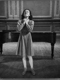 Italian Lyric Soprano Anna Maria Alberghetti Preparing for Her American Debut at Carnegie Hall