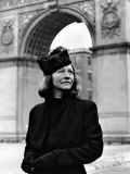 Poet Edna St Vincent Millay Standing Outdoors in Washington Square Park