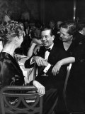 Socialite Lytle Hull with Composer Cole Porter as Host Elsa Maxwell Leans over His Shoulder