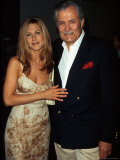 """Actress Jennifer Aniston and Father  Actor John Aniston  at Premiere of Her Film """"Picture Perfect"""""""