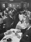 Sherman Billingsley  Owner of the Club  Playing Gin Rummy with Unidentified Man at the Stork Club
