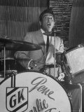Gene Krupa  American Drummer and Jazz Band Leader  Playing Drums at the Club Hato on the Ginza