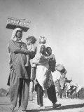 Sikhs Carrying Their Belongings as They Migrate to East Punjab After the Division of India