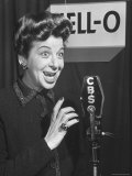 Performer Fanny Brice Singing Radio Commercial for Jell-O
