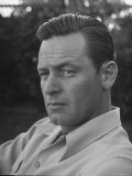 Actor William Holden Looking Serious