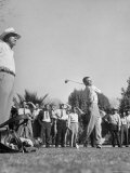 Golfer Ben Hogan Playing in Pro Amateur Tournament as Warm-up for Phoenix Open