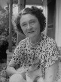 Novelist Marjorie K Rawlings Holding Her Cat