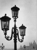 Splendor of a Street Light in the Piazza San Marco with the Santa Maria Della Salute Church