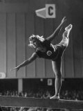 Russian Gymnast Competing at 1952 Olympics