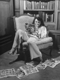 Actress Buff Cobb  Reading Comic Books at Home