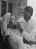 Miss America 1941 Rosemary LaPlanche Having Makeup Applied