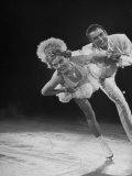 Skater Sonja Heniedoing and Her New Partner Charles Hain  During an Ice Show