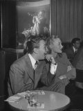 Mel Torme and June Bright at Table in the Hollywood Nightclub Listening to Dizzy Gillespie King