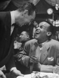Singer Harry Belafonte  Looking Up and Laughing During Bop City Nightclub's Opening Night