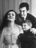 """Opera Singer Joan Sutherland with Her Family backstage in """"Lucia Di Lammermoor"""""""
