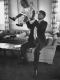 Robert F Kennedy Playfully Tossing His Daughter Mary Kerry Kennedy Into the Air