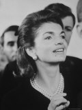 Mrs John F Kennedy Watching Pope Paul VI During Visit to St Patrick's Cathedral