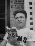 Boxer Marcel Cerdan  Reading a French English Dictionary