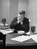 Radio Performer Arthur Godfrey Taking a Break While on the Air