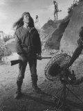 """Actor Michael Ansarra as Indian Warrior Cochise Between Scenes on Set of TV Show """"Broken Arrow"""""""