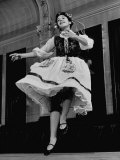 Member of Amateur Dance Group Practicing an Old Polish Folk Dance at East Side Polish Hall