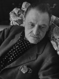 Author Somerset Maugham Relaxing on Couch  at Home