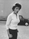 Actress Sophia Loren Displaying a Wide Range of Emotions