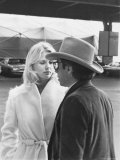 Peter Bogdanovich Speaking to Girlfriend  Former Playboy Playmate and Actress Dorothy Stratten