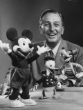 Walt Disney  of Walt Disney Studios  Posing with Some Famous Cartoon Characters