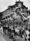 Portuguese Troops  West African Rank and File  Marching Away from Church of Born Jesus  After Mass