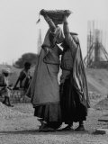 Indian Woman During Construction of Chandigarh  New Capital City of Punjab