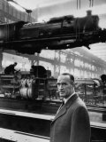 German Industrialist  Alfred Krupp Jr  Standing in His Factory