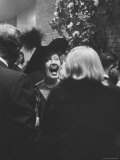 Columnist Helda Hopper in Hat and Whooping It Up While Attending a Desilu Cocktail Party