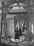 "Mexican Actress Maria Felix on Set New Picture ""Juana Gallo"" Reflected in a Mirror"