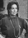 "Mexican Actress Maria Felix on Set New Picture ""Juana Gallo"""