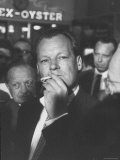 Willy Brandt Arriving for Foreign Ministers Conference
