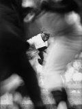 Star Pitcher Earl Wilson Hurling Ball to Batter During Washington Against Detroit Game