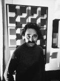 Venezuela Kinetic Artist Jesus Raphael Soto  in His Paris Apartment