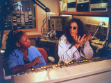Controversial Radio Disc Jockey and Talk Show Host Howard Stern and Sidekick Robin Quivers