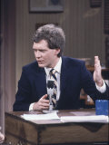 "Comedian David Letterman on NBC TV ""Late Night"""