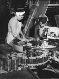 Women Workers Manning Machinery on Fruit Canning Production Line in San Jose  CA