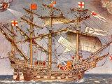 English Fleet's Flag Ship for Spanish Armada Campaign  the 38 Gun Frigate Sailing Ship Ark Royal