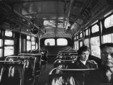 White Women Sitting Empty Bus During the Black Boycott of Bus Companies Throughout the City