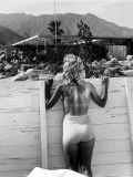 Tennis Star Eleanor Cushingham Using Industrial Designer Raymond Loewy's Solarium to Sunbathe
