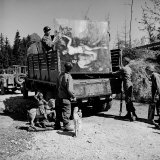 American Soldiers of 101st Airborne Loading a Truck with Recovered Art Treasures Stolen by German