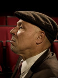 Playwright August Wilson  Photographed at the Yale Repertory Theater in New Haven  Conn
