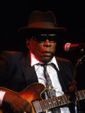 Blues Singer and Guitarist John Lee Hooker Performing